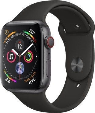 Watch Series 4 GPS + Cellular 44mm Sport Schwarz