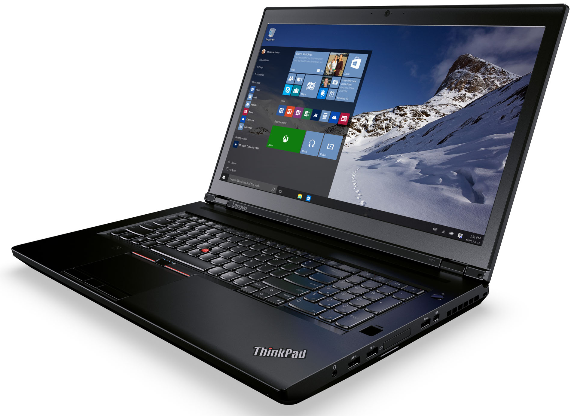 Lenovo ThinkPad P70 Top a306e8d24